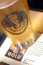 Foothills Brewing Company, dining on 4th Street, Winston-Salem, North Carolina